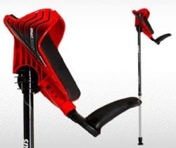 Crutch Features Ergonomic Grip for Comfort, Reduced Physical Stress