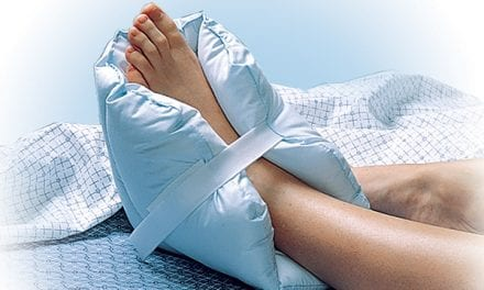 Pillow Provides Pressure Relief for Foot, Ankle