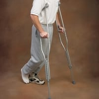 Aluminum Crutches Are Adjustable for a Personalized Fit