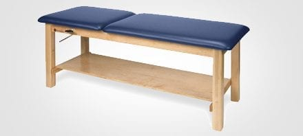 Treatment Table Features Adjustable Backrest