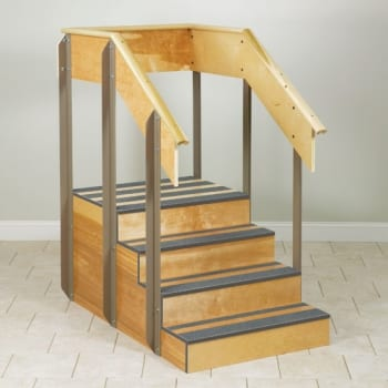 Training Stairs Feature Comfort Grip Handrails