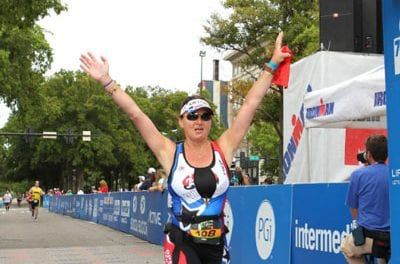 TBI Survivor Morosini Comes in 3rd in Female Physically Challenged Division at Half IRONMAN Augusta Race