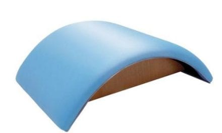 Pilates Half Moon Barrel Allows for Use in Mat Workout or Circuit Session
