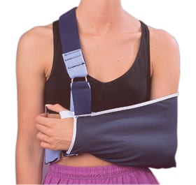 Shoulder Immobilizer Features Foam Shoulder and Body Strap