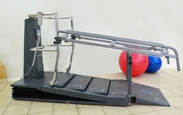 Dynamic Stair Trainer Compact Provides Smaller Footprint, Steps Adjust to Clients' Ability
