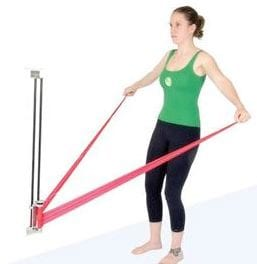Wall-Mounted Device Offers Ability to Vary Resistance of Exercise Bands and Tubes