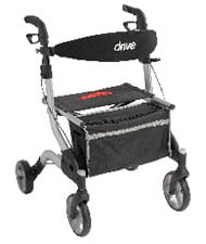 Aluminum Rollator Promotes Adjustable Handles and Enhanced Steering