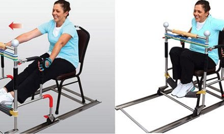 Sitroll Low Impact Trainer Facilitates Range of Motion and Strength Building Exercises for Older Adults