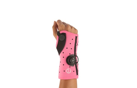 Exos Wrist Brace Goes Bright Pink in Support of Breast and Ovarian Cancer Awareness