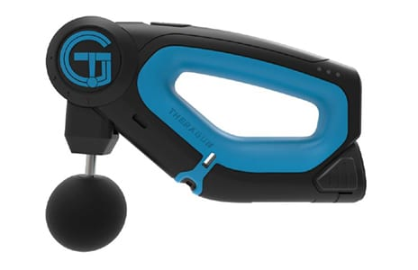 Theragun Handheld Percussive Therapy Device Born from Necessity