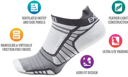 Experia ProLite Running Sock Features Ultra-Light Materials