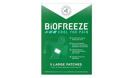 Biofreeze Pain Relief Is Now Available in a Patch Form