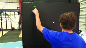 Figure 3. Vision Coach interactive light board for oculomotor retraining and hand-eye coordination. Photo courtesy of A3 Bakersfield.
