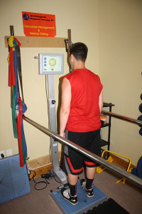 Figure 1. Biodex BioSway for baseline and post-injury postural sway determination and post-concussion rehabilitation.