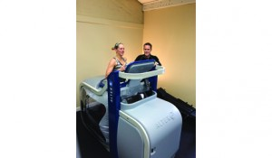 While therapists utilize the AlterG Anti-Gravity Treadmill in the rehabilitation setting, many athletes will integrate the unweighted running into their training programs. From recovery runs, speed work, and fartlek training, the device can provide the supplement to indoor training that many runners need.