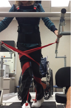Gait training activities performed in the clinic with multilayered error augmentation.