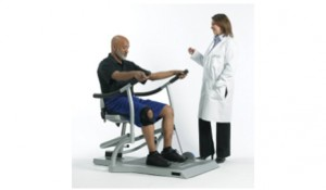 The Sit2Stand Trainer from Biodex Medical Systems Inc is engineered to help strengthen muscles associated with rising from a seated position. (Photo courtesy of Biodex.)