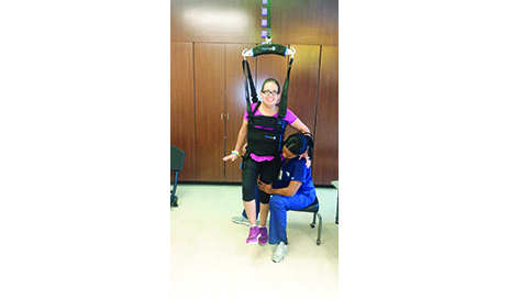 Body weight support allows the walking process to be comfortable for the patient. It also reduces the need for intensive support from therapists during gait training, which often leads to fatigue and risk of injury.