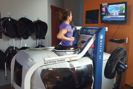 The use of the AlterG anti-gravity treadmill in a sports performance manner is not simply to help athletes who are recovering from an injury but also to serve healthy athletes looking to enhance their abilities.