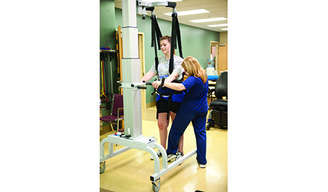 Body weight support devices are available for use over a treadmill or overground. Patients who use these devices are often less fearful and more motivated knowing they are safely supported and not at risk of falling.