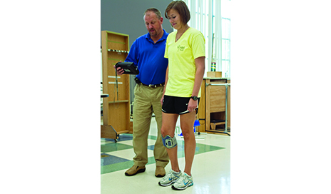 Foot drop frequently presents as a persistent challenge for patients after stroke. Wearable technologies are available to retrain dorsiflexion during the gait cycle.