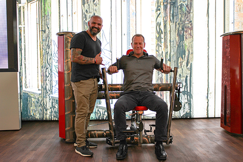 Pictured (l-r) are Simal Yilmaz, gym80 CEO and Daniel Clayton, president of Dyaco Commercial and Medical Division.