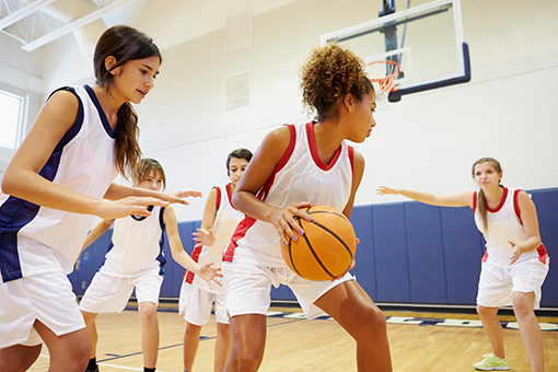 Results from a recent study suggest that recurrent injury rates are three times higher in girls' basketball in schools without athletic trainers. (Photo courtesy of Ann & Robert H. Lurie Children's Hospital of Chicago)